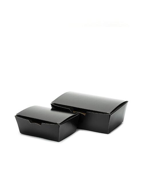 Paper snack boxes black Foodinbox
